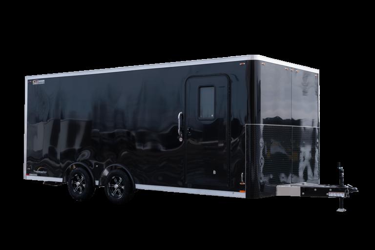 Trailmaster Flat Front 8.5 Foot Wide Tandem Axle Aluminum Cargo Trailer