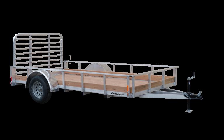 Aluminum Low Side Single Axle Utility Trailer