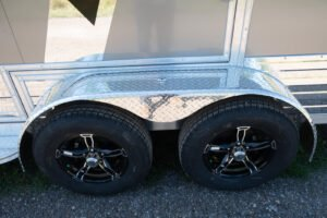 Tires and ATP Fenders on Aluminum All Sport Deluxe Trailer