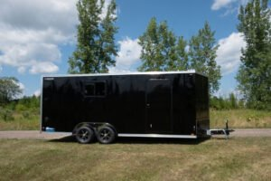Thunder V Nose 8.5' Wide Tandem Axle Aluminum Cargo Trailer with Blackout Package