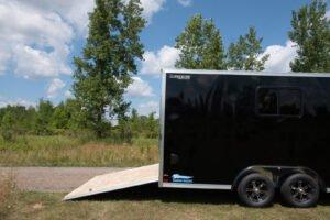 Thunder V Nose 8.5' Wide Tandem Axle Aluminum Cargo Trailer Rear Ramp Door