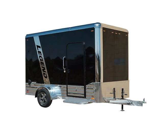 Legend's deluxe single axle aluminum enclosed cargo trailer