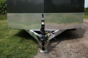 Front Stone Guard detail on Thunder Model Aluminum V-Nose Cargo Trailer