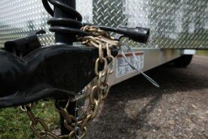 Coupler and Jack Detail on Thunder Model Aluminum V-Nose Cargo Trailer