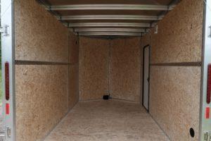 Interior with Added Wood Walls on Thunder Model Aluminum V-Nose Cargo Trailer