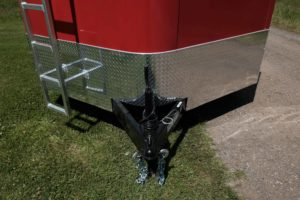 Stone Guard and Tongue Detail on Legend Cyclone Steel V-Nose 8.5' Wide Cargo Trailer