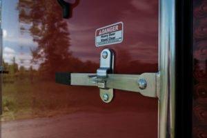 Zinc Door Hardware Standard on Legend Steel Cyclone Cargo Trailer