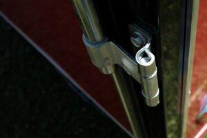 Detail of Zinc Cam Bar on Steel Cyclone Trailer