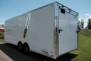 Aluminum Enclosed Cargo Trailer Trailmaster Flat Front 8.5' Wide Model