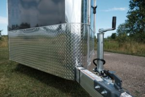 Stone Guard and Tongue Detail on Trackmaster Aluminum Snow and Sport Trailer