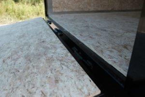 Rear Ramp Door Detail on Legend Cyclone Steel Cargo Trailer