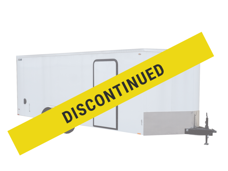 Legend has discontinued the Steel V-Nose 8.5 foot wide enclosed steel trailer
