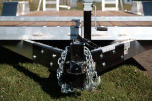 Front Coupler Detail on Legend's Aluminum Open Equipment Hauler