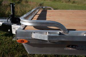 Front Heavy Duty Rub Rail on Legend aluminum open equipment hauler