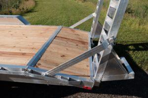 Ramp and Gate detail on Legend Heavy medium duty equipment hauler trailer