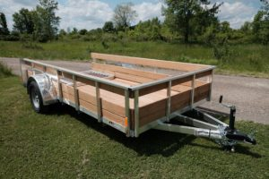 Side View of Legend Aluminum High Side Utility Trailer