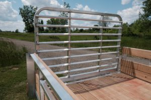 Gate and Ramp Detail on Legend Aluminum Open Utility Trailer