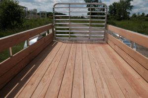 Deck and Gate view on Legend Open Utility Trailer Aluminum High Side