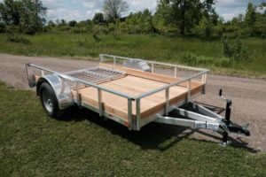 Front View of Legend Aluminum Low Side Open Utility Trailer