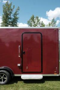 Curbside RV Door on Explorer Snow ATV Enclosed Aluminum Trailer
