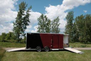 Front and Rear Ramp Doors Open on Legend Explorer Snow ATV Trailer