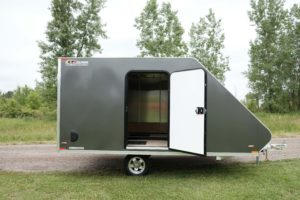 Aluminum Enclosed Snow Sport Trailer with RV-style side door with added width