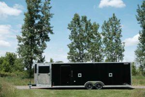 8.5' Wide Aluminum Enclosed Snow and Sport Trailer Trailmaster V-Nose Model