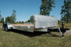 Ramps act as stone guard on Legend's Open Car Hauler trailer
