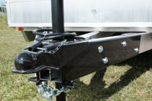 Jack detail on Legend aluminum Open car hauler
