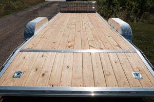 Decking and Beavertail View on Legend Open Aluminum Car Hauler Trailer
