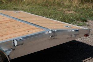 Beavertail View and D-Rings on Legend Aluminum Open Car Hauler