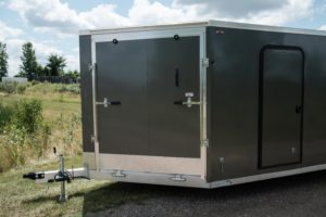 Front Detail of Thunder Snow Aluminum Enclosed Snow and Sport Trailer