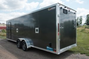 Side Access Doors Detail on Thunder Snow Aluminum Enclosed Snow and Sport Trailer