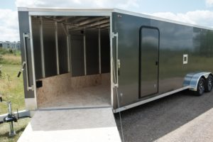 Interior View from Front of Thunder Snow ATV Enclosed Trailer