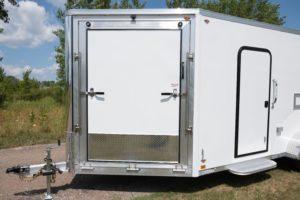 From Ramp Door Detail on Legend aluminum enclosed snow and sport trailer custom trailer ramp door options