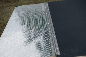 ATP Detail on Ramp Flap on Legend Deluxe Tandem Axle Aluminum Enclosed Cargo Trailer