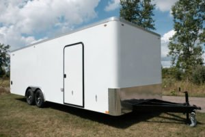 Cyclone Model Steel Enclosed Flat Front 8.5' Wide Trailer
