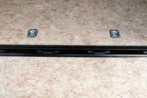 Rear Ramp Door Piano Hinge detail on Steel Cyclone