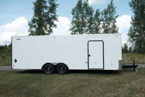Curbside Door Detail on Steel Cyclone Flat Front 8.5' Cargo Trailer