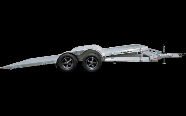 Tilt Car Hauler Tandem Axle Aluminum Trailer