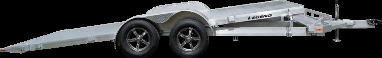 Tilt Car Hauler Tandem Axle Aluminum Open Trailer