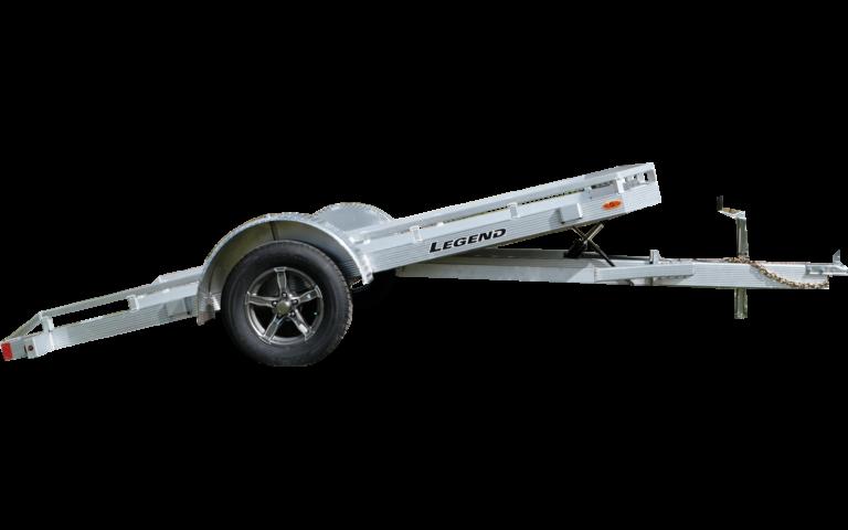 Aluminum Tilt Utility Trailer Single Axle