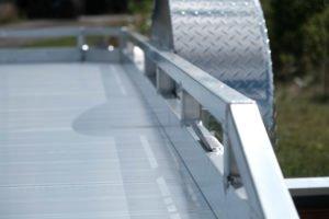 Extruded Aluminum Floor is standard on Legend's Tilt Utility Trailer