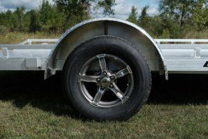 Wheel and Tire detail on Legend's Tilt utility Trailer
