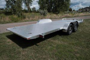 Rear Angle detail on Rear Detail on Legend's Legend's Aluminum Tilt Car Hauler