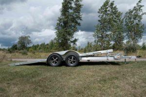 Tilt View on Legend's Open Tilt Car Hauler