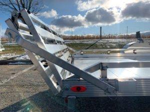 Rear Ramp Gate Detail on Legend Aluminum Open Utility Gate Trailer