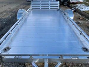 Extruded Aluminum Flooring on Utility Gate Open Trailer