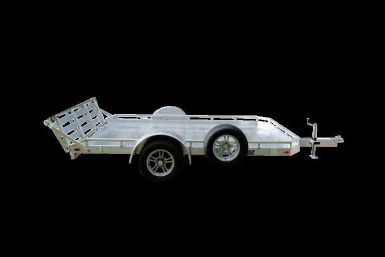 Legend Premium Trailers Utility Gate single axle aluminum trailer