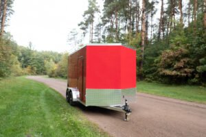 Thunder V Nose 7.5' Wide Tandem Axle Aluminum Cargo Trailer with Roof Rack